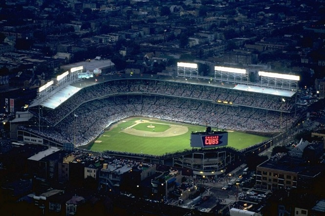Wrigley Field Night Lights 8/8/88