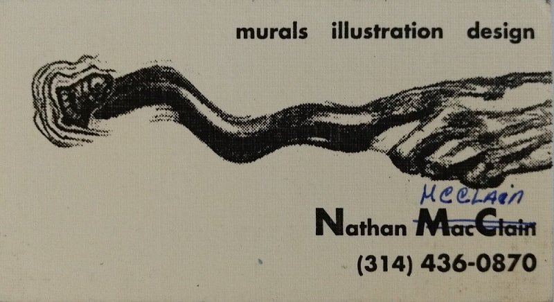 Business Cards for Nate McClain, freelance artist