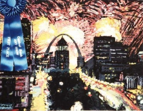 St Louis Fireworks (1990) by Nate McClain