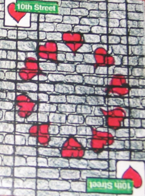 Nate McClain, NY New York City Playing Cards 10 of Hearts