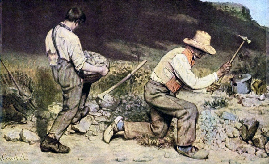 The Stone Breakers by Gustave Courbet (c. 1849 - 1850)
