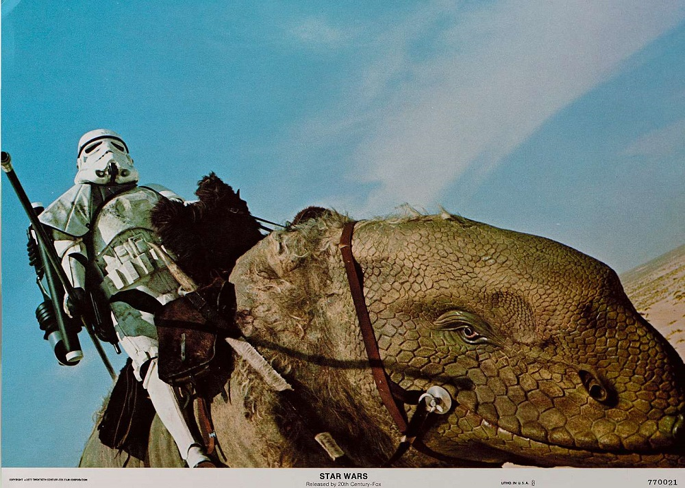 Star Wars Stormtrooper on Dewback